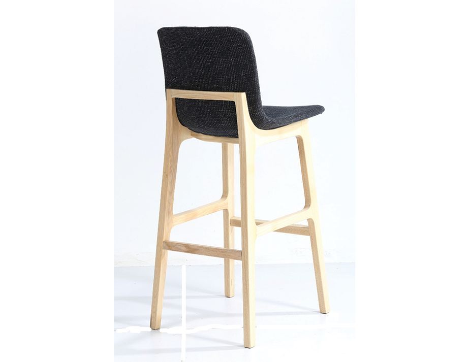 ara charcoal upholstered seat kitchen stool solid american