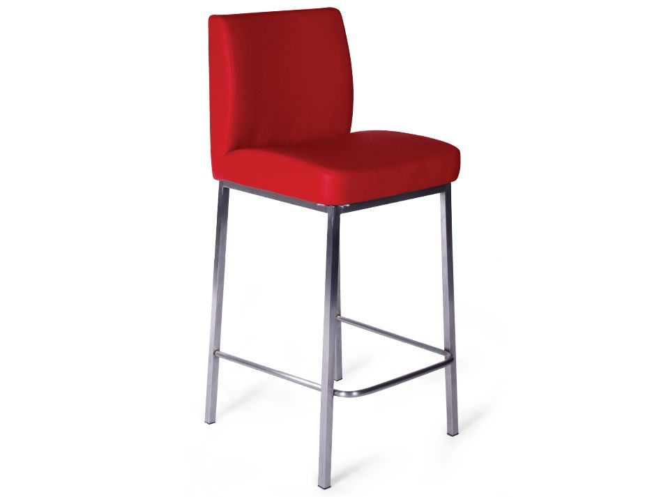 Modern Kitchen Bar Stool Red
