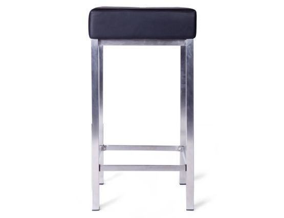 Modern Backless Kitchen Stool Black Padded