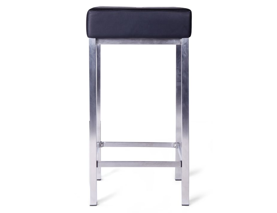Ava Bar Stool Black Steel Legs3