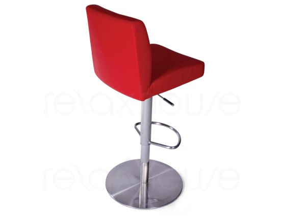 Evelyn Bar Stool Red Brushed Bar Stool3