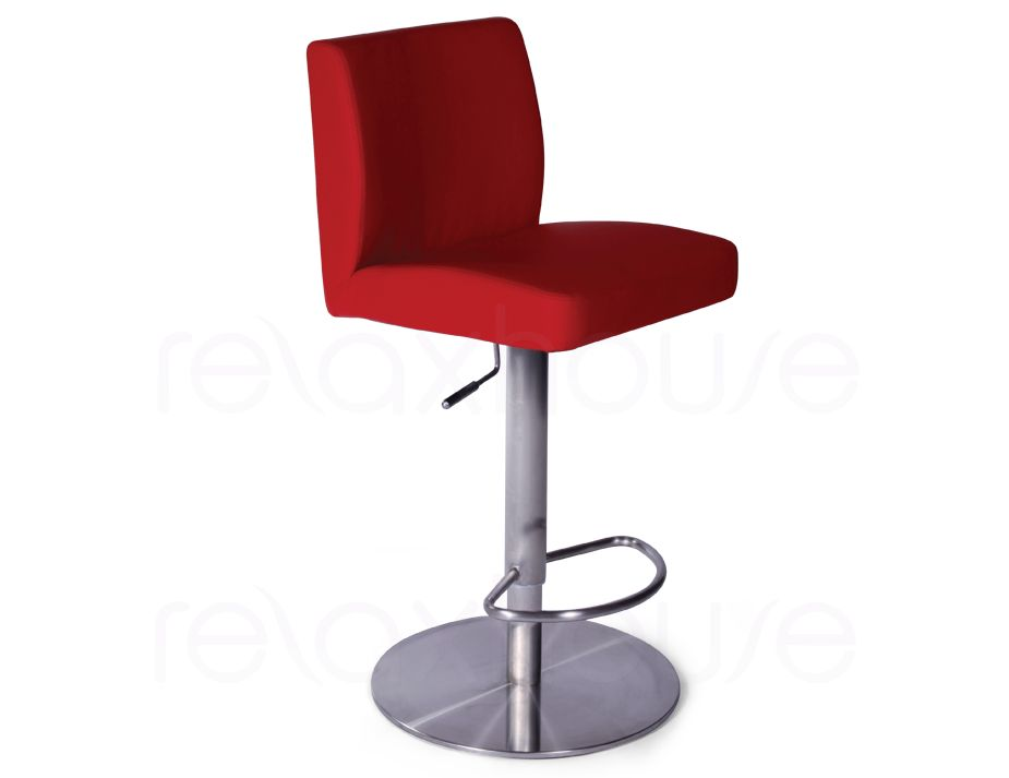 Evelyn Bar Stool Red Brushed Bar Stool1