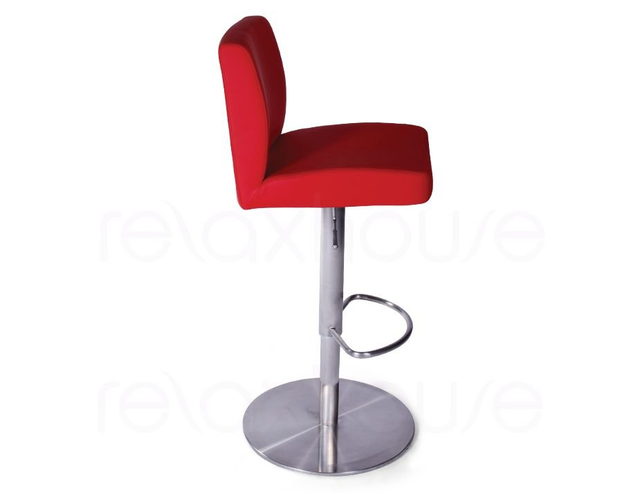 Evelyn Bar Stool Red Brushed Bar Stool2