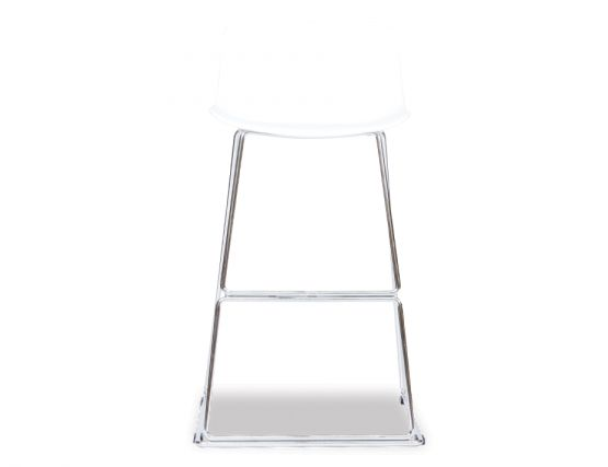 White Chrome Stool