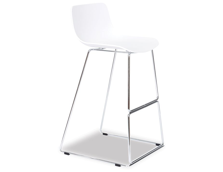 Umbria Stool White And Chrome