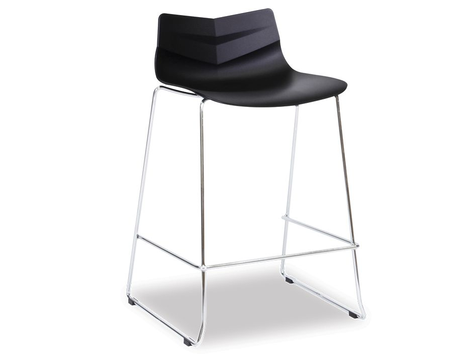 Modern Kitchen Chrome Bar Stool