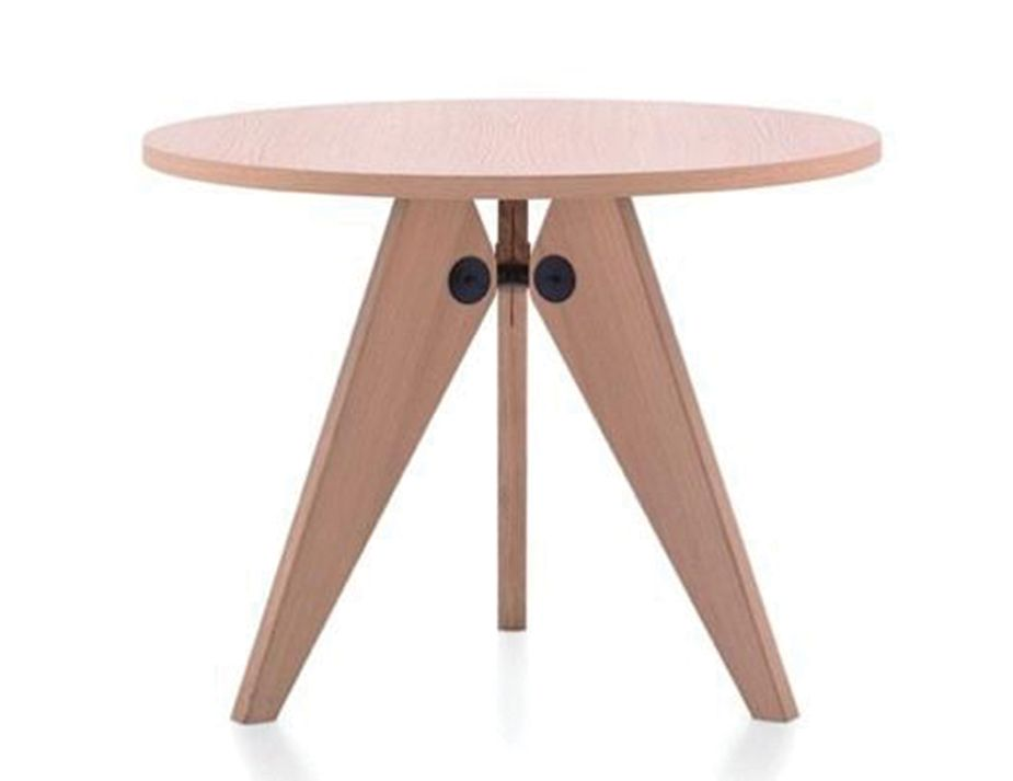 Jean Prouve Replica Gueridon Dining Table Round Natural 80cm