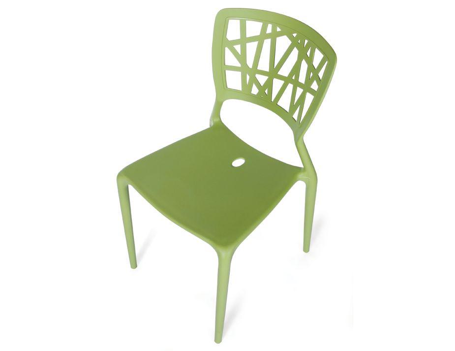 replica viento indoor outdoor stackable plastic cafe chair