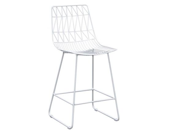 Modern Wire Kitchen Stool Replica Bend Stool White