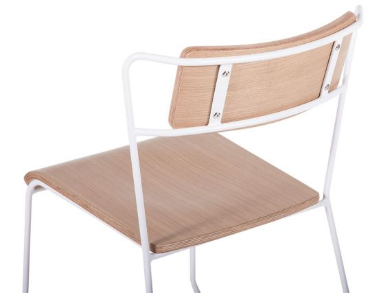 Krafter_Chair_White_Frame_ Oak_Seat