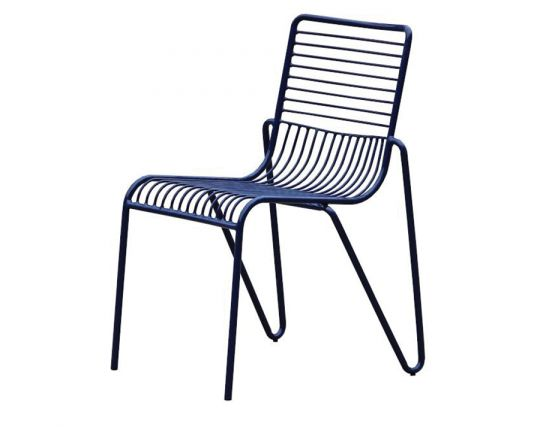 Banks chair modern wire dining chair black replica for Designer replica furniture perth