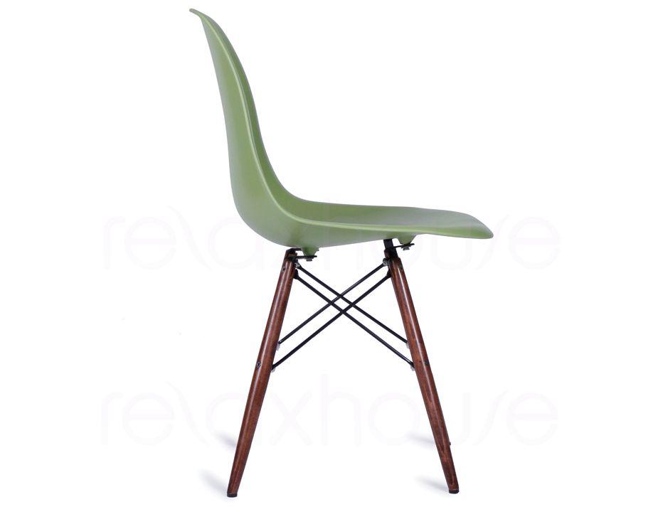 Eames style eiffel dsw chair in green - Eames eiffel chair reproduction ...