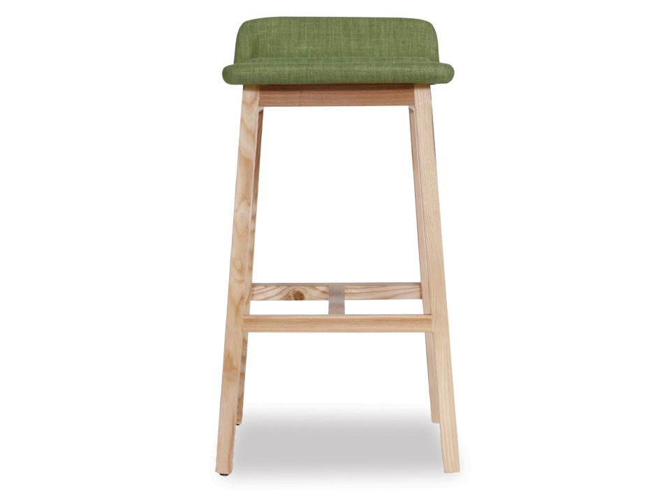 Vasco Scandinavian Timber Bar Stool Natural American Ash