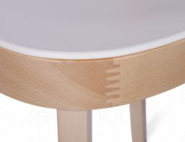 Ridley Wood Plastic Cafe Chair 6
