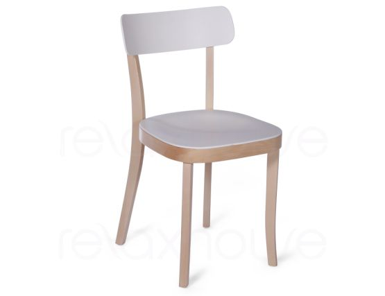 Ridley Wood Plastic Cafe Chair 1
