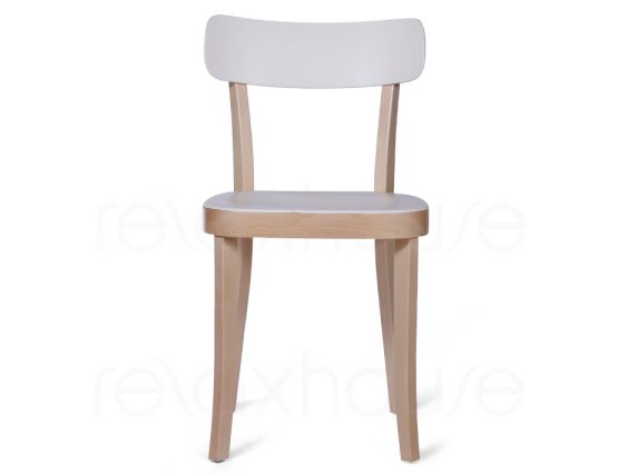 Ridley Wood Plastic Cafe Chair 2