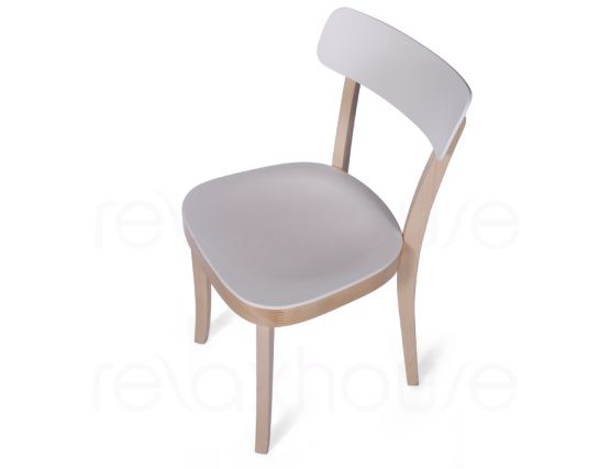 Ridley Wood Plastic Cafe Chair 7