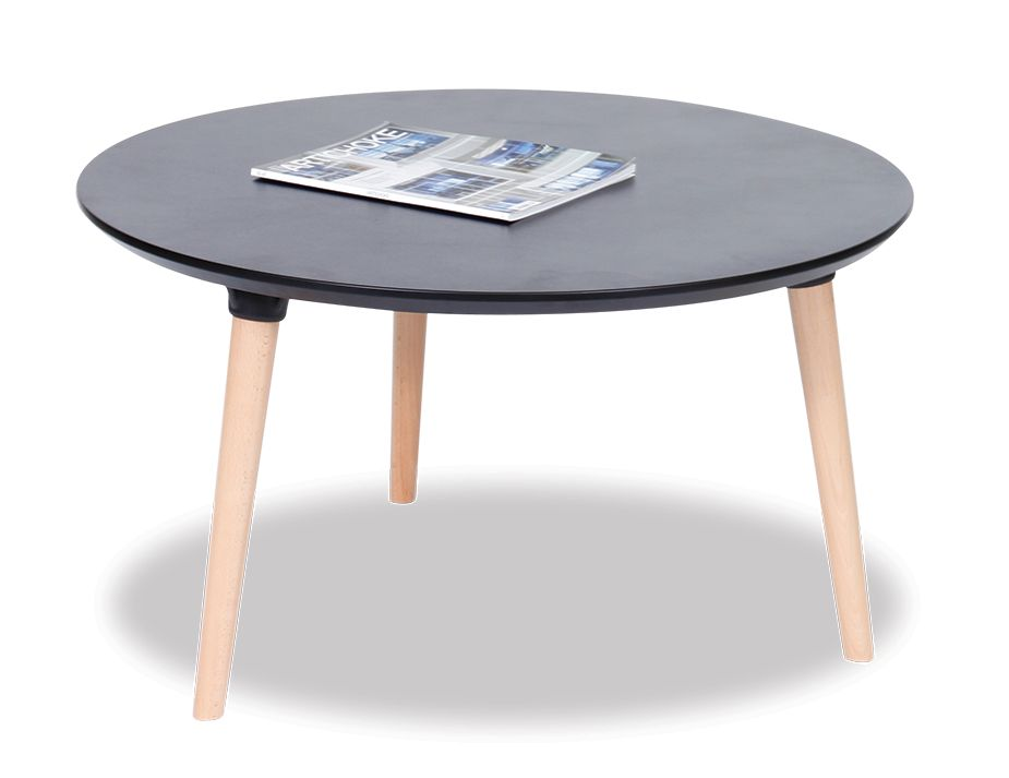 Round Black Coffee Table