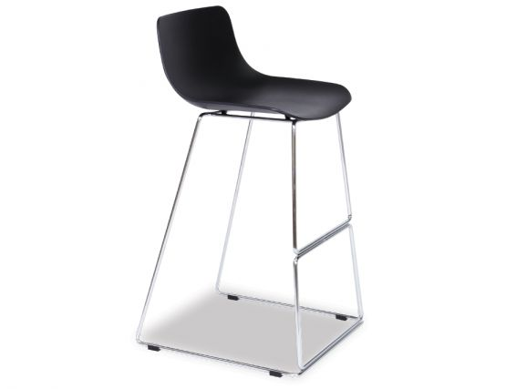 Umbria Stool Black And Chrome