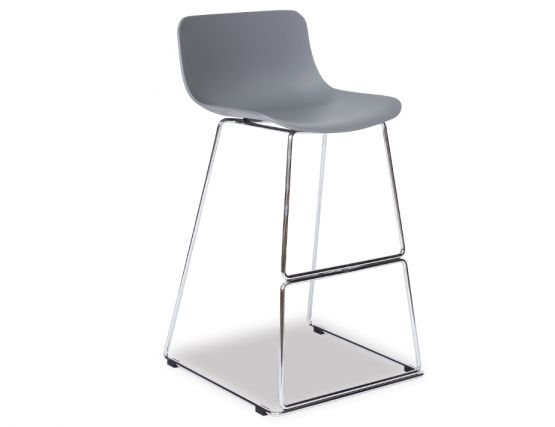 Umbria Stool Grey And Chrome