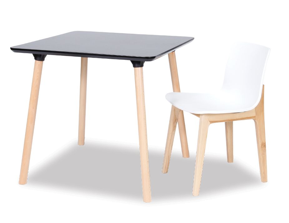 Small Square Black Dining Table