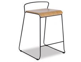 Krafter Stool Black With Natural Seat