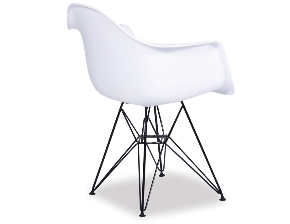 Moda Wing Shell Armchair   White
