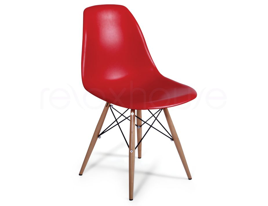 Red eames replica eiffel dsw chair - Eames eiffel chair replica ...