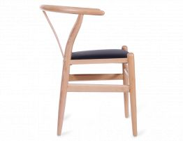 Wishbone Chair Beech Black Pad 3