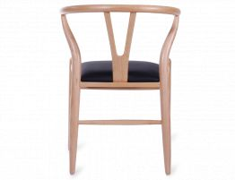 Wishbone Chair Beech Black Pad 5