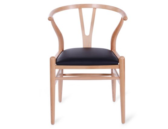 Wishbone Chair Beech Black Pad 22