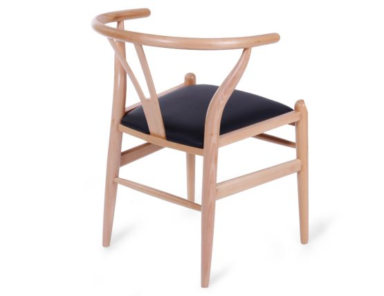 Wishbone Chair Beech Black Pad 44
