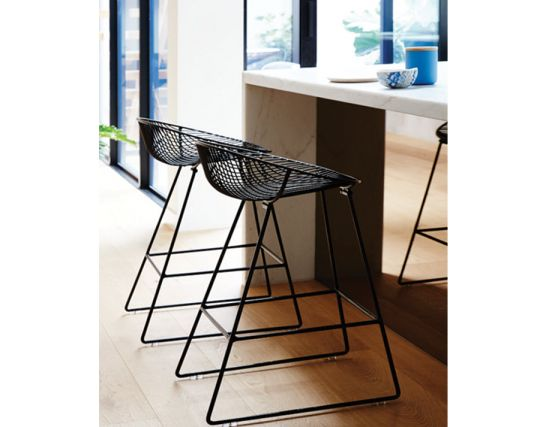 Wire Stool Kitchen Pop Stool Black