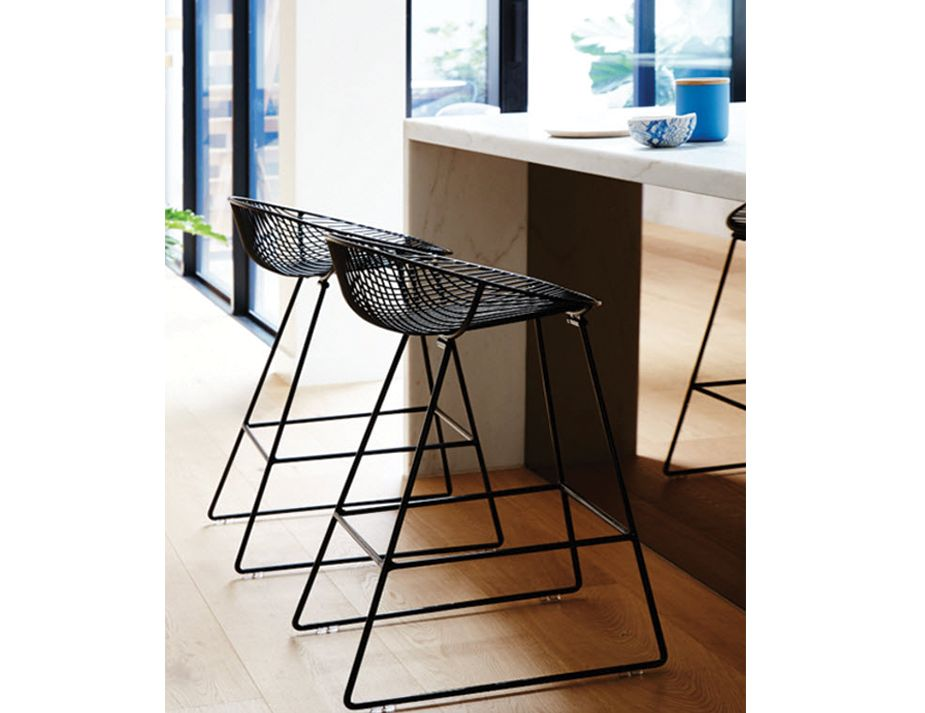 Designer Black Wire Mesh Kitchen Stool