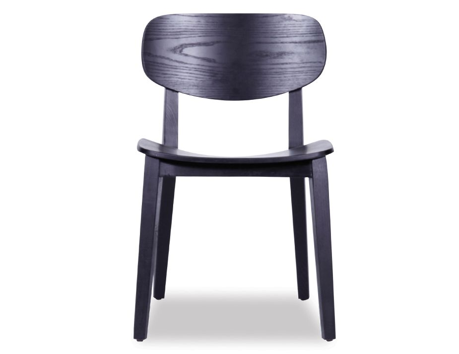 saki dining chair black stained ash