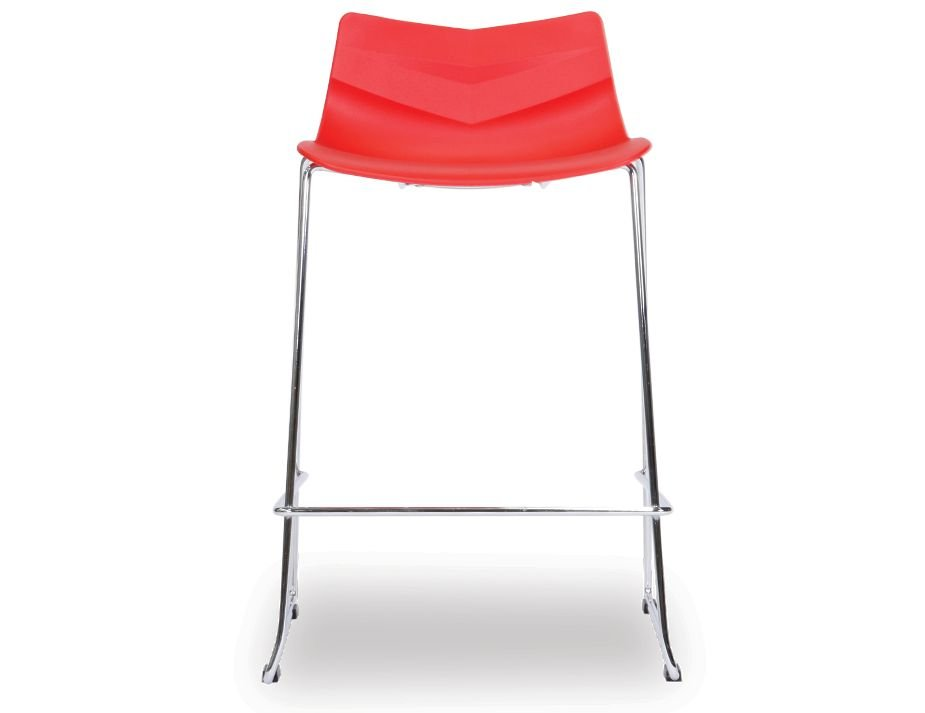 Willow Kitchen Bar Stool Red Contoured Seat