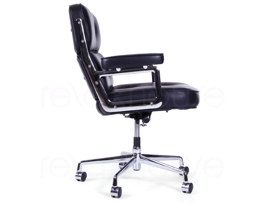 Eames Soft Pad Leather Office Chair 3  Replica Eames Executive Work Office Chair   Black Leather. Eames Executive Work Chair. Home Design Ideas