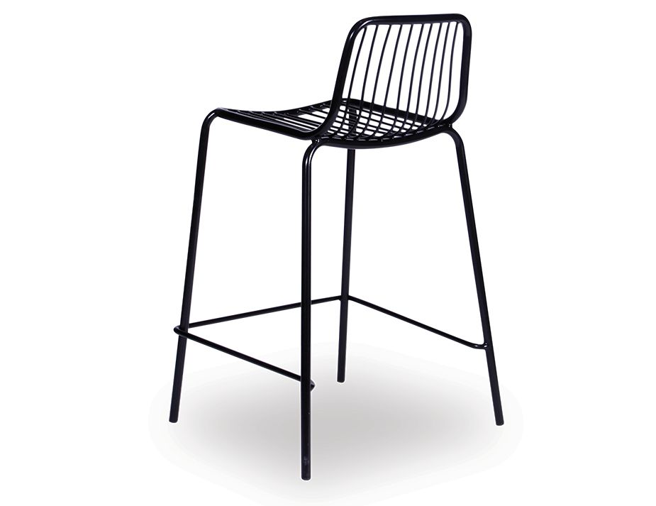 Imelda Modern Low Back Bar Stool Black