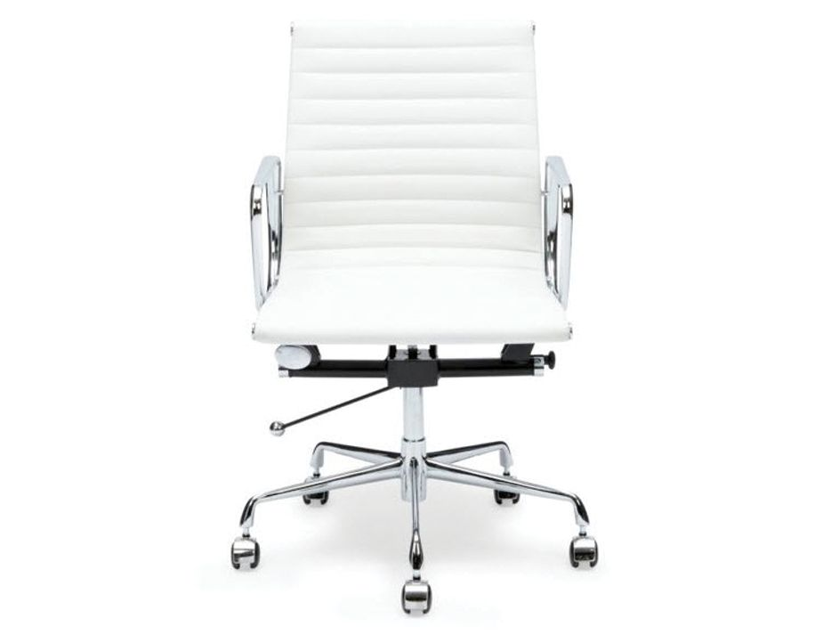 Replica Eames White Leather Low Back Office Chair