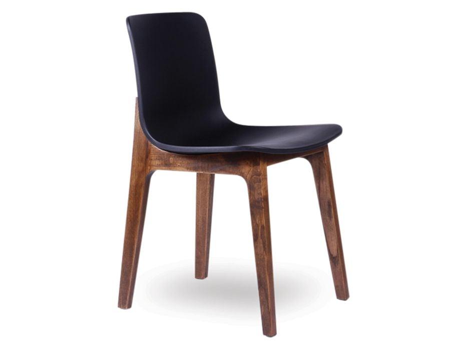 Timber Dining Chair with Black Seat : Ara Chair BlackWalnut3 from www.relaxhouse.com.au size 925 x 713 jpeg 29kB