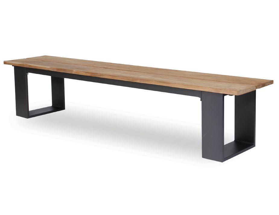 Helios Outdoor Solid Teak Wood Bench Seat