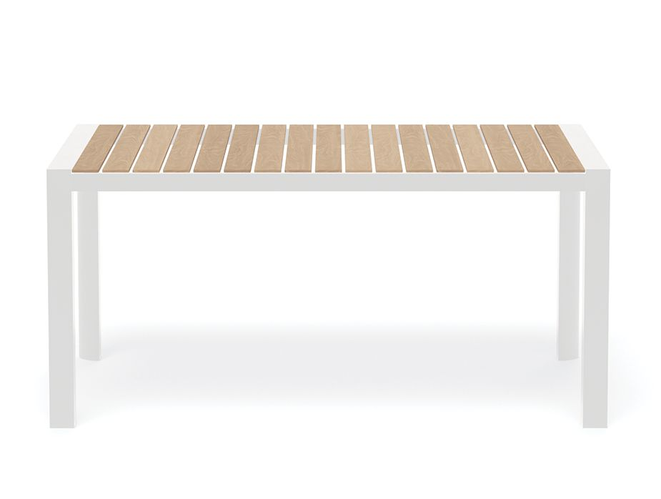 Teak Timber Table White Furniture