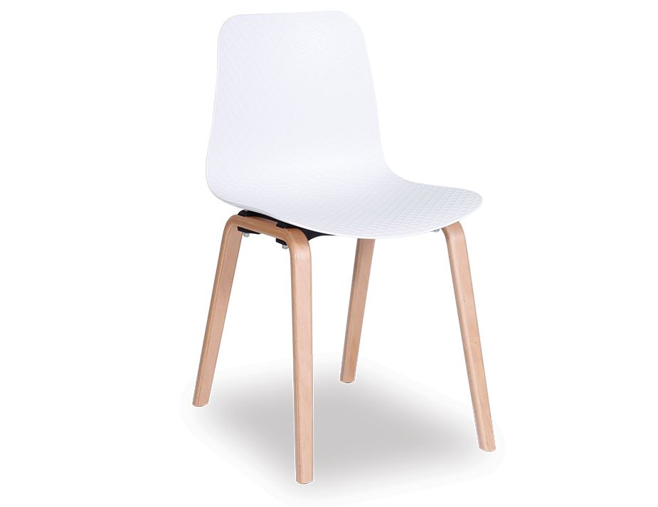Siloh Dining Chair White Seat Natural Ash Legs