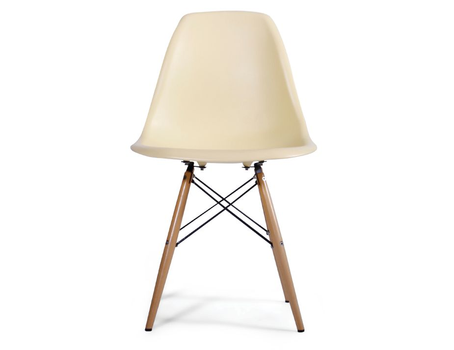 Eames dsw modern dining chair yellow - Eames eiffel chair replica ...