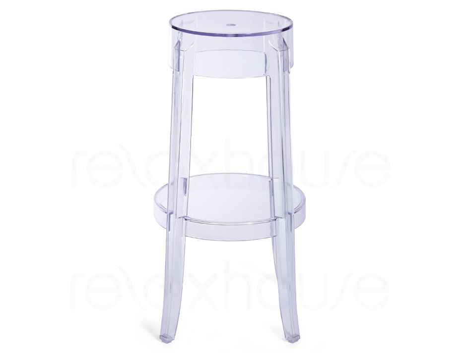 Ghost stool clear replica 66cm - Ghost bar stools counter height ...