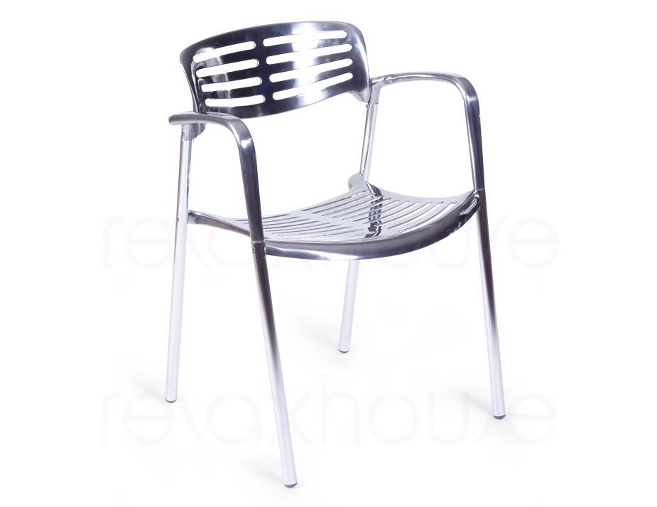 Jorge Pensi Toledo Polished Aluminum Stacking Chair
