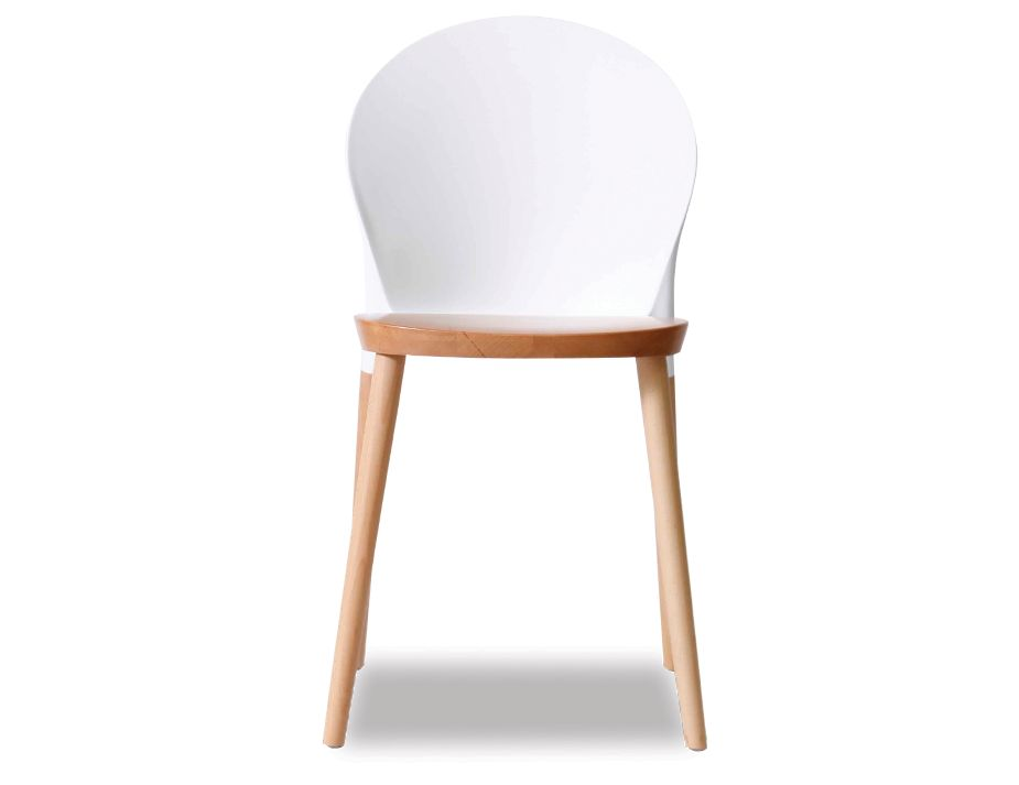 White Cafe Racer Commercial Chair