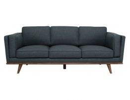 Victor 3 Seater Sofa Space Blue