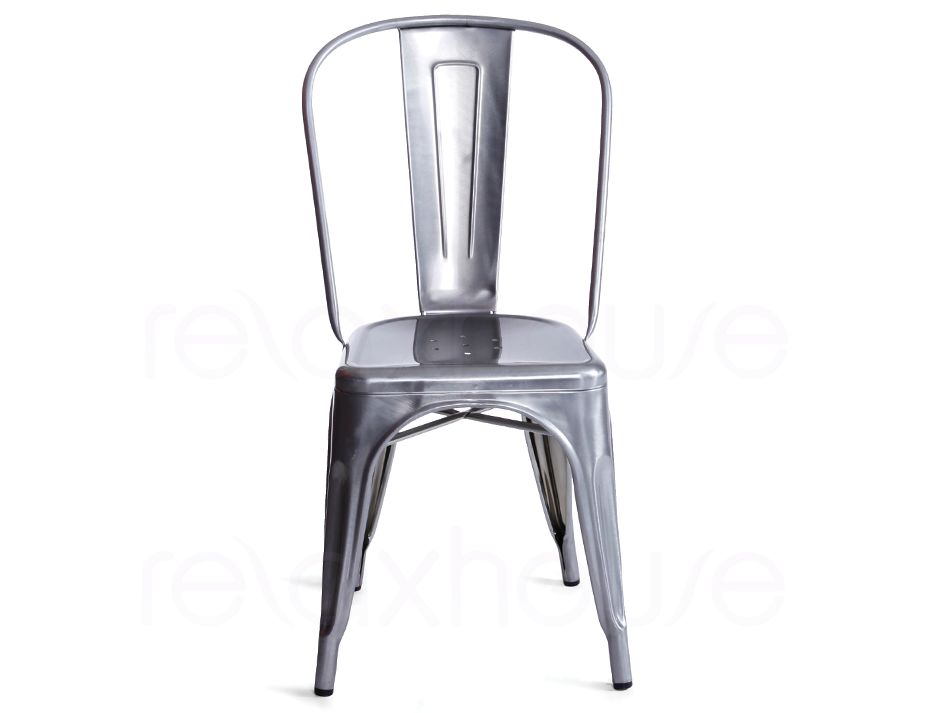 Galvanised chair Chaise imitation tolix