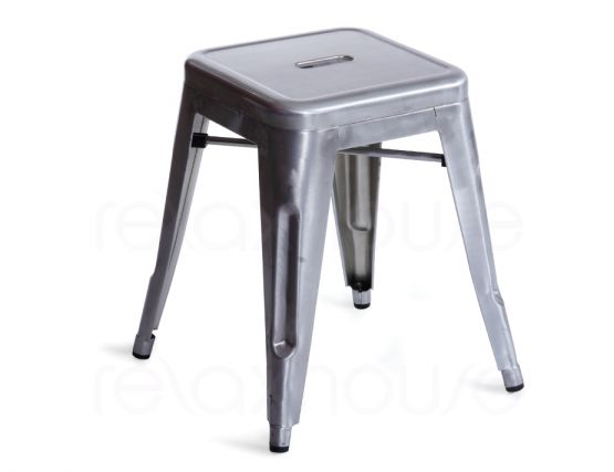 Small Galvanised Bar Stool Tolix